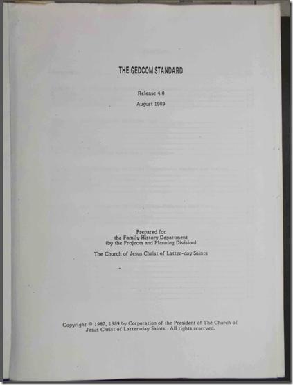 The GEDCOM Standard 4.0