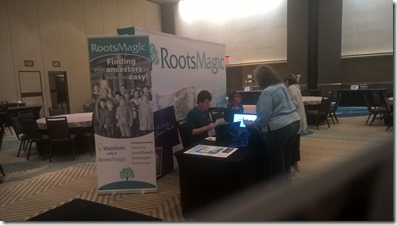 RootsMagic booth at IAJGS 2017
