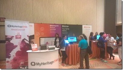 MyHeritage booth at IAJGS 2017
