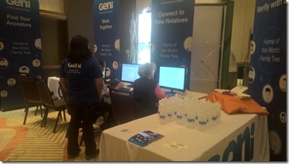 Geni booth at IAJGS 2017
