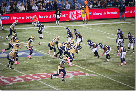 The snap: Winnipeg Blue bombers at Toronto Argonauts, Oct 19, 2012, by Paul Gorbould