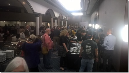 Attendees registering at the FTDNA Conference