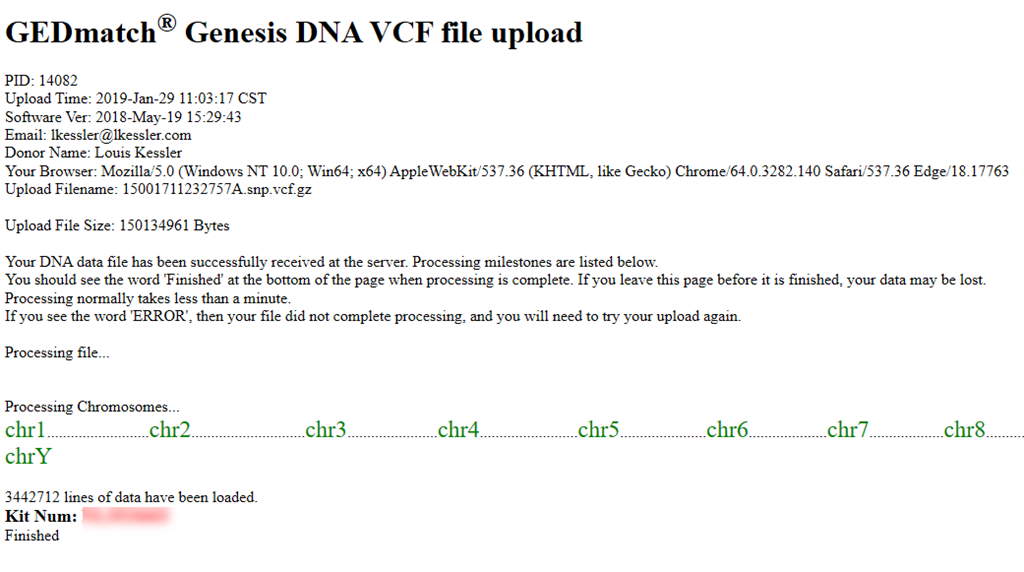 My Whole Genome Sequencing  The VCF File « Louis Kessler's Behold Blog